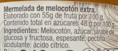 Mermelada melocoton - Ingredients