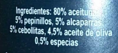 Mousse de aceituna - Ingredients