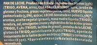 La Bellacaso Pan De Leche Cereales175g - Ingredients