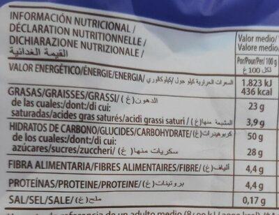 Magdalenas - Información nutricional - es