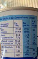 Leche condensada - Informació nutricional - es
