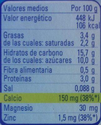 Iogolino fresa - Nutrition facts - es