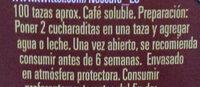 Nescafé Classic - Ingredientes - es
