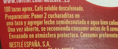 Nescafe classic descafeinado - Ingredients
