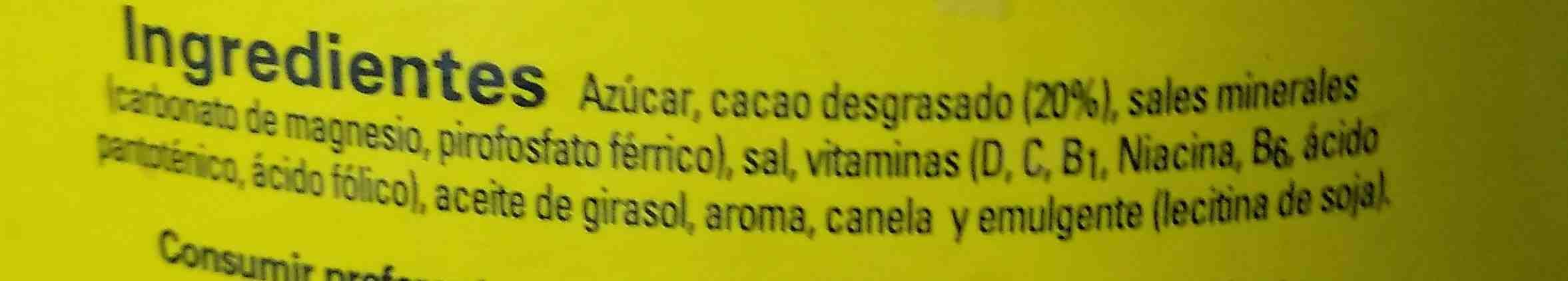 CACAU NESQUIK EN POLS - Ingredients