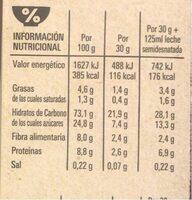 Chocapic Original - Informació nutricional - es