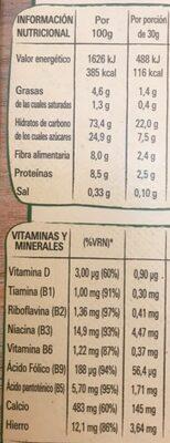 Chocapic original - Voedingswaarden - es