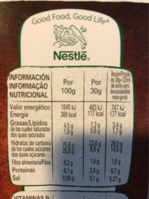 Chocapic Original - Información nutricional
