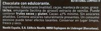 Chocolate Nestlé Negro Sin Azúcar - Ingredientes