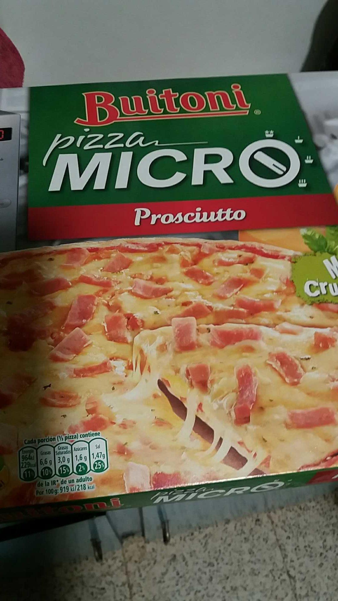 Micro pizza prosciutto - Produit - es