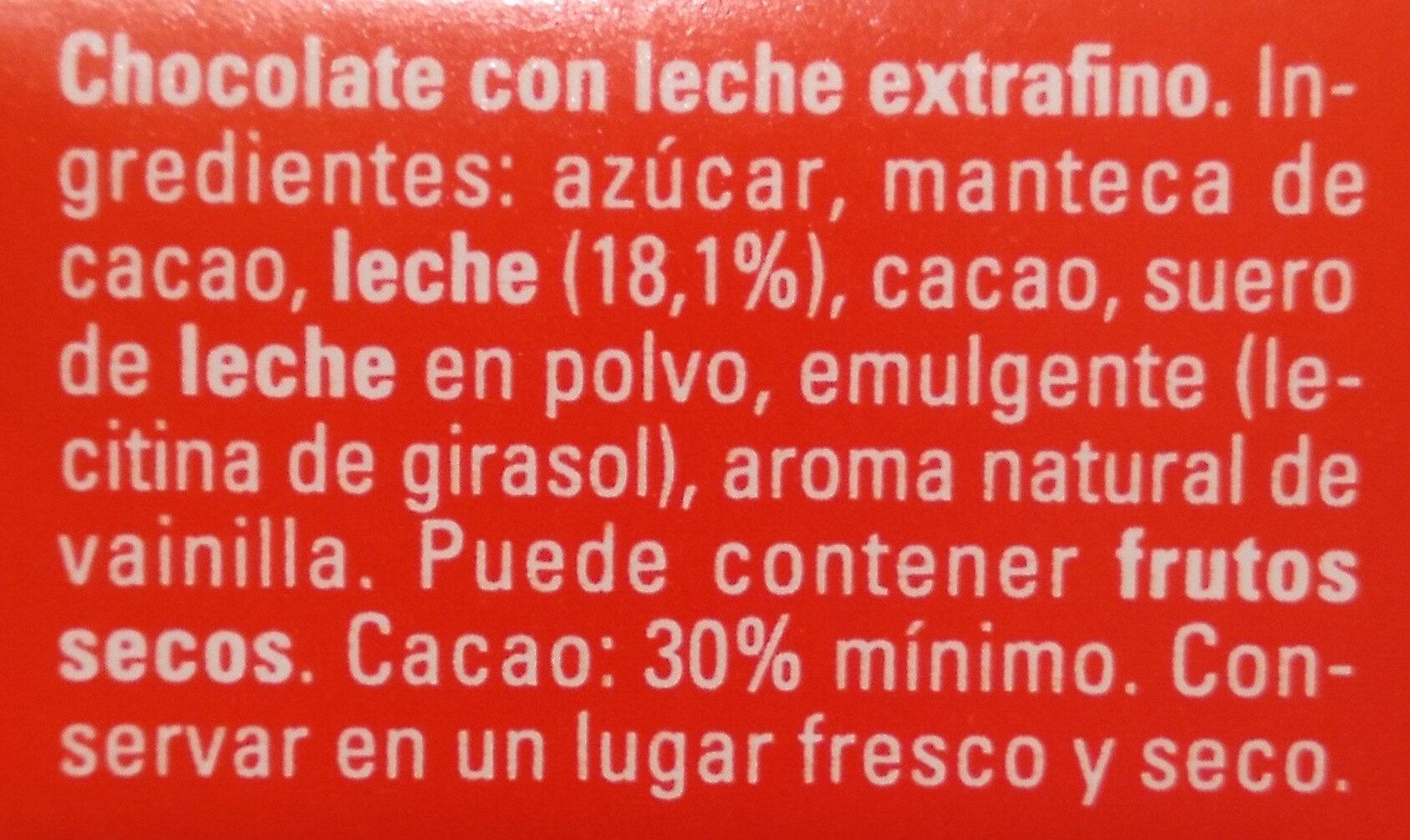 Chocolate con leche fresca y sin gluten - Ingredientes - es
