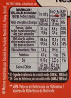 Chocolate con leche fresca y sin gluten - Informació nutricional - es