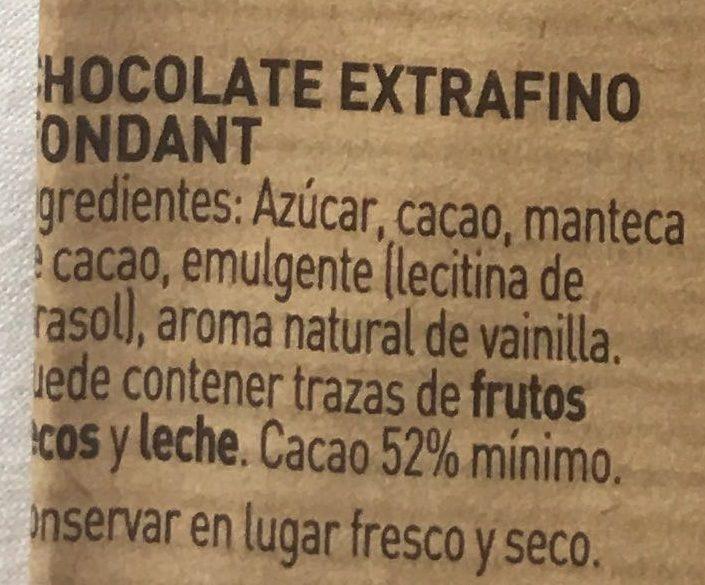 Chocolate negro para repostería - Ingrediënten