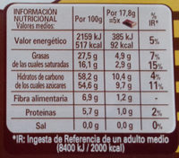 Chocolate negro 44% cacao - Nutrition facts - es