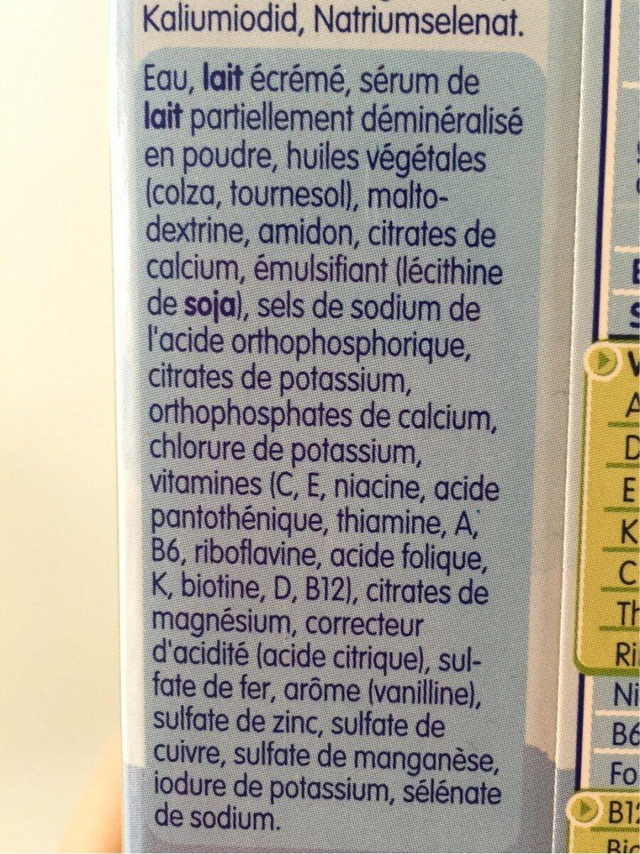Junior Milk - Ingredients - fr