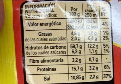 Sopa De Pollo Con Fideos Deshidratada - Nutrition facts - fr