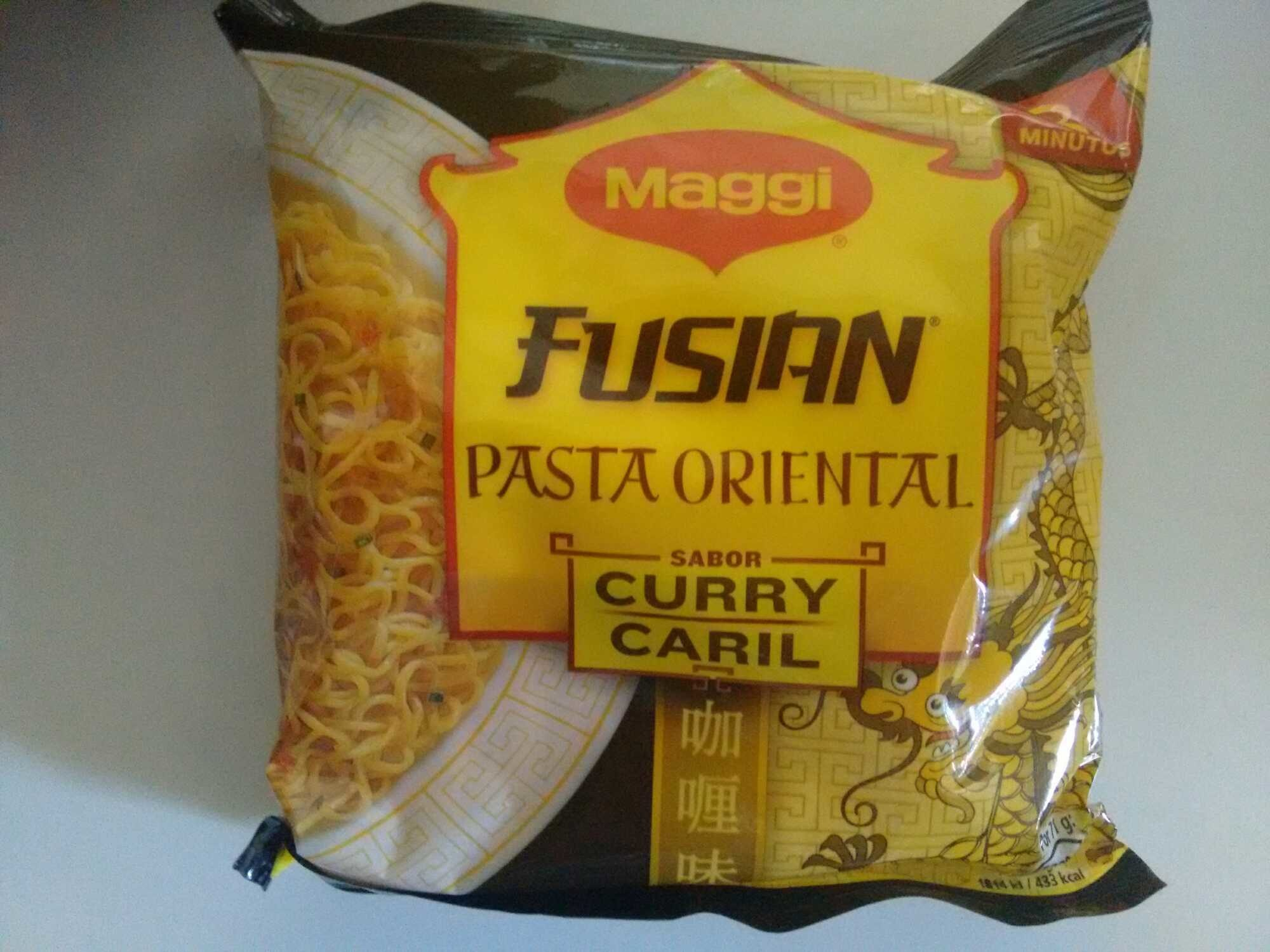 Fusian pasta oriental sabor curry - Producte