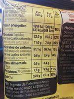 Fusian pasta oriental sabor curry - Información nutricional
