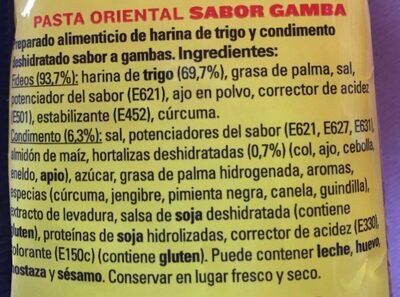 Pasta Oriental Gamba Maggi - Ingredients