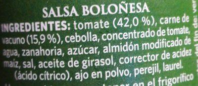 Salsa boloñesa - Ingrédients - fr