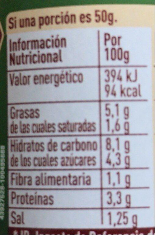 Salsa boloñesa - Informations nutritionnelles - fr