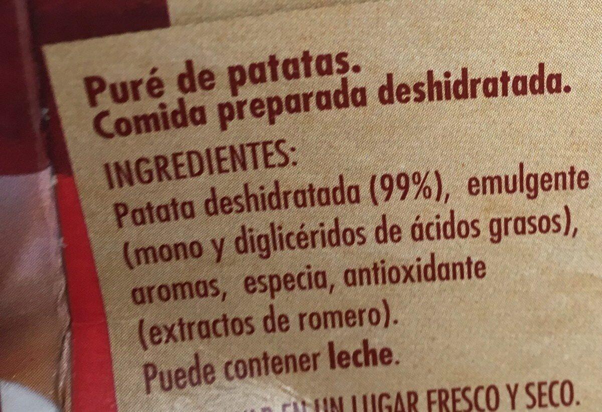 Puré de patata sin gluten - Ingrédients - fr