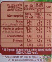 El puré - Información nutricional