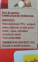 Puré de patatas - Ingredientes