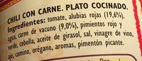 Chili con Carne - Ingredientes