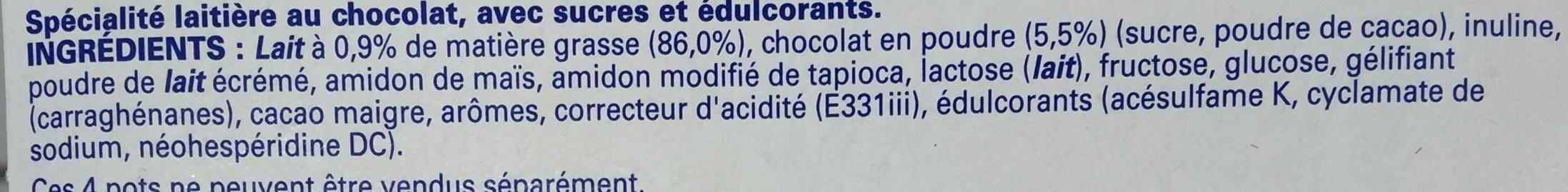 Ferme & Fondant Chocolat - Ingrediënten