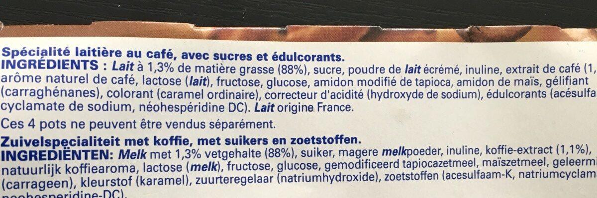 Sveltesse ferme et fondant - Ingrediënten