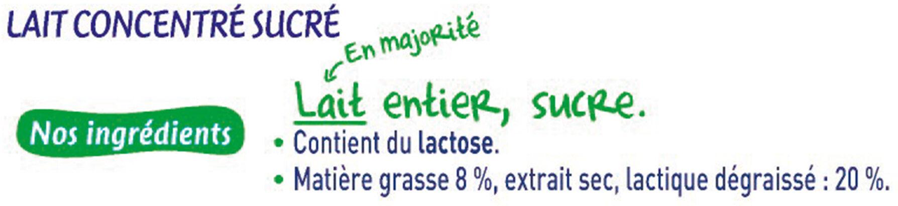 NESTLE Lait Concentré Sucré lait entier 2 tubes de 170g - Ingredienti - fr