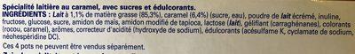 Ferme et fondant caramel - Ingrédients - fr