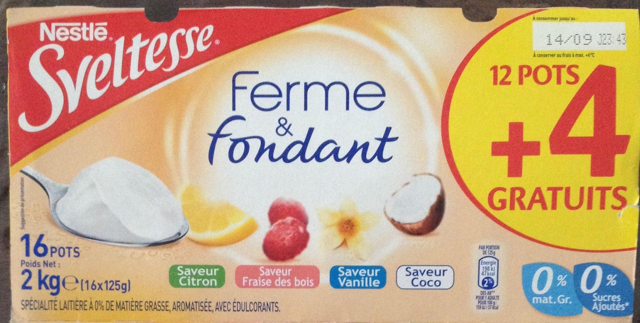 Sveltesse ferme fondant citron fraise des bois for Chambre 13 vanille et citron