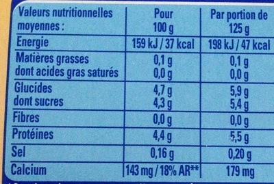 Sveltesse Ferme & Fondant (Citron - Fraise des bois - Vanille - Coco) - Nutrition facts