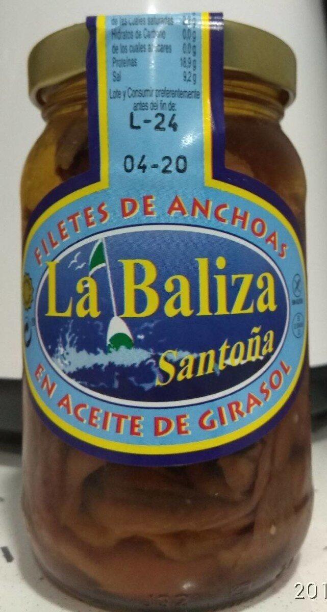 Filetes de anchoa en aceite girasol - Producte