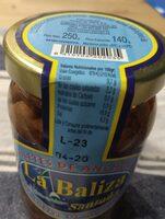 Filetes de anchoa en aceite girasol - Informació nutricional