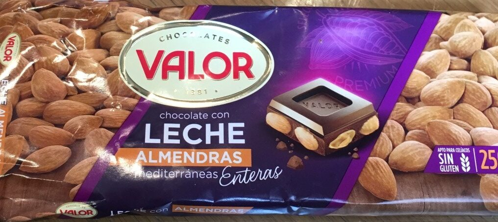 Chocolate con leche almendras - Product - es
