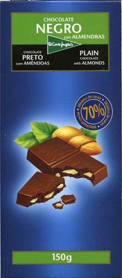 Tableta de chocolate negro con almendras 70% cacao - Product - es
