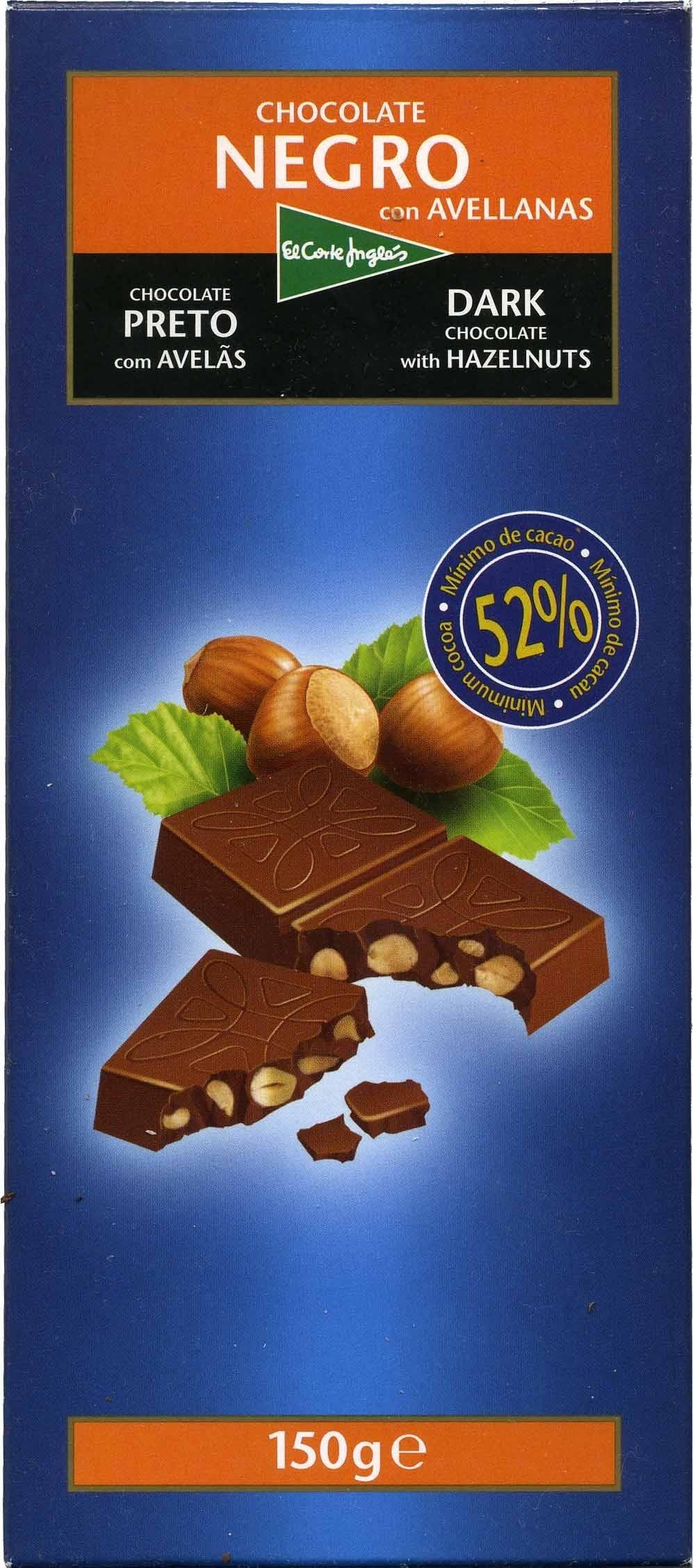 Chocolate negro con avellanas 52% de cacao - Product - es