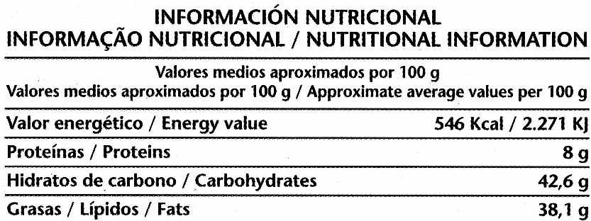 Chocolate negro con avellanas 52% de cacao - Nutrition facts - es