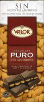 Tableta de chocolate negro con almendras edulcorado 52% cacao - Producto