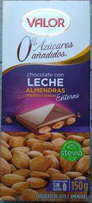 Chocolat lait amandes sans sucre ajouté - Product