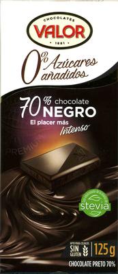 Chocolate negro sin azúcares añadidos 70% cacao - Product - es