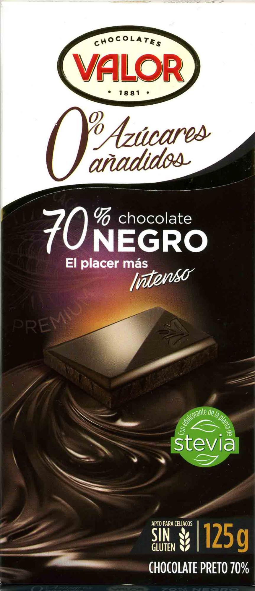 Chocolate negro sin azúcares añadidos 70% cacao - Producto - es