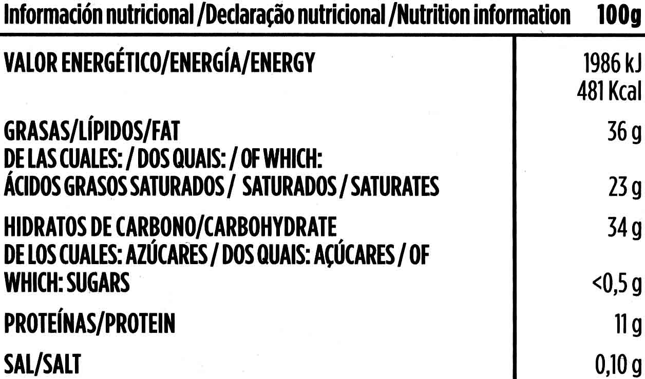 Chocolate negro sin azúcares añadidos 70% cacao - Información nutricional - es