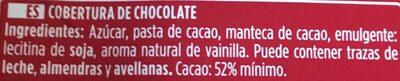 Chocolate puro de postres - Ingrediënten - es