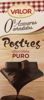 Postres chocolate puro azúcares añadidos y sin gluten - Product - fr