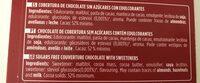 Postres chocolate puro azúcares añadidos y sin gluten - Ingrediënten - fr