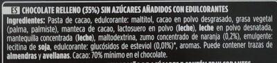 Chocolate negro mousse de naranja - Ingredients